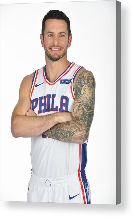 Media Day Acrylic Print featuring the photograph J.j. Redick by Jesse D. Garrabrant