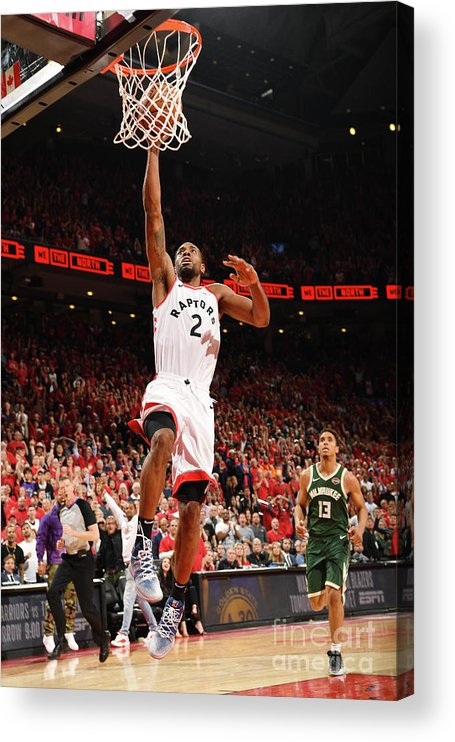Playoffs Acrylic Print featuring the photograph Kawhi Leonard by Ron Turenne