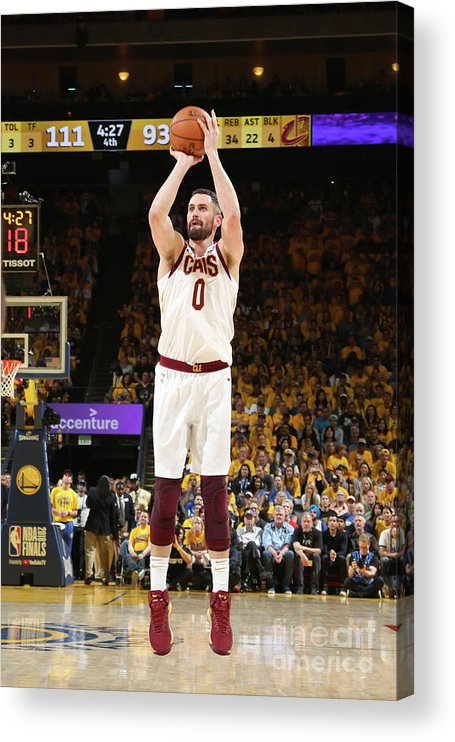 Playoffs Acrylic Print featuring the photograph Kevin Love by Nathaniel S. Butler