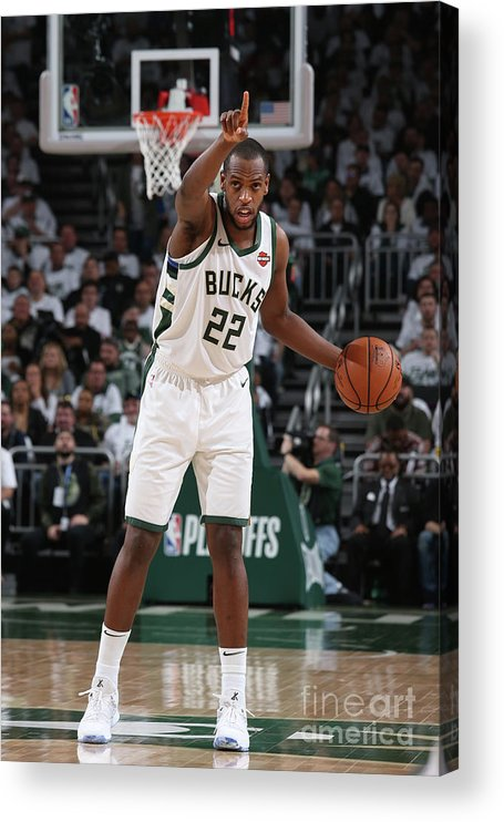 Playoffs Acrylic Print featuring the photograph Khris Middleton by Gary Dineen