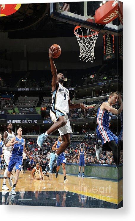 Nba Pro Basketball Acrylic Print featuring the photograph Tony Allen by Joe Murphy