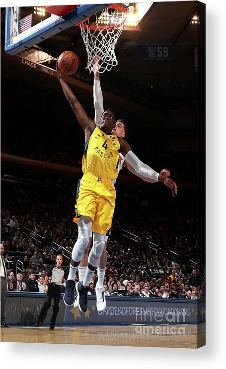 Nba Pro Basketball Acrylic Print featuring the photograph Victor Oladipo by Nathaniel S. Butler