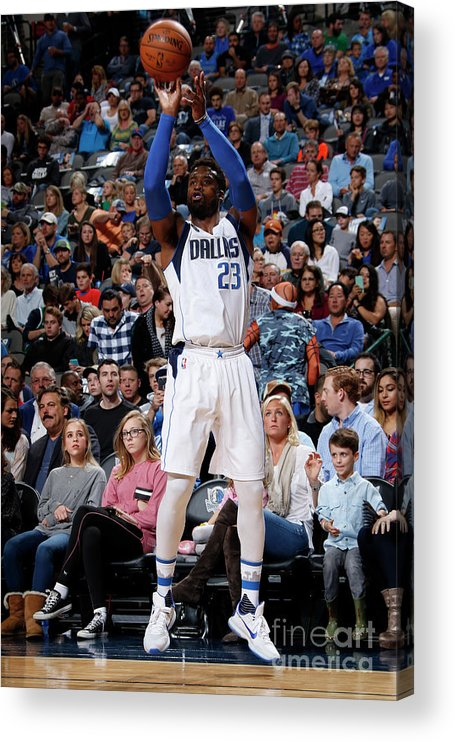 Nba Pro Basketball Acrylic Print featuring the photograph Wesley Matthews by Glenn James