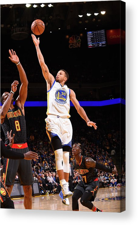 Nba Pro Basketball Acrylic Print featuring the photograph Stephen Curry by Noah Graham