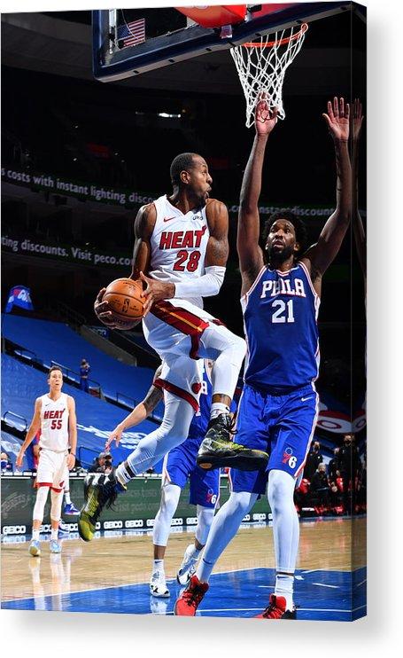 Nba Pro Basketball Acrylic Print featuring the photograph Andre Iguodala by Jesse D. Garrabrant