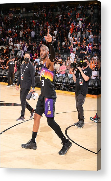 Playoffs Acrylic Print featuring the photograph Chris Paul by Nathaniel S. Butler