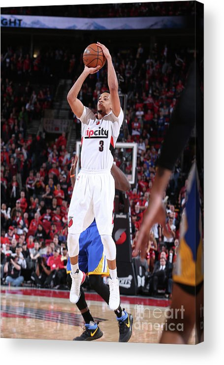 Playoffs Acrylic Print featuring the photograph C.j. Mccollum by Sam Forencich