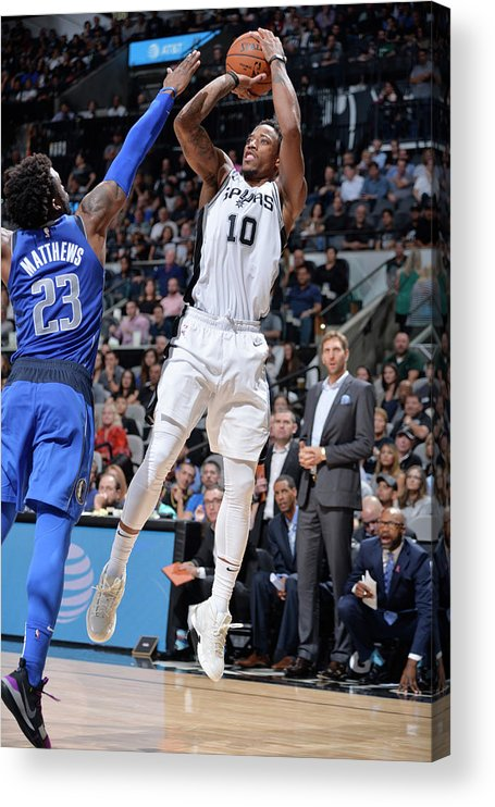 Nba Pro Basketball Acrylic Print featuring the photograph Demar Derozan by Mark Sobhani
