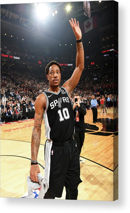 Thank You Acrylic Print featuring the photograph Demar Derozan by Ron Turenne