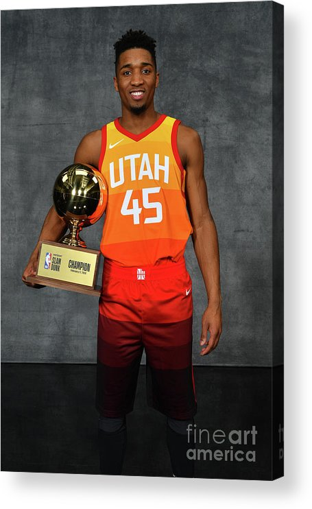 Nba Pro Basketball Acrylic Print featuring the photograph Donovan Mitchell by Jesse D. Garrabrant