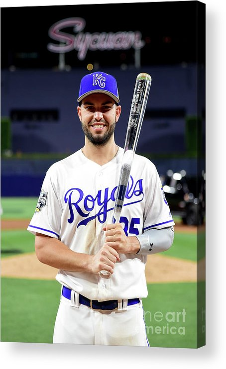 Three Quarter Length Acrylic Print featuring the photograph Eric Hosmer by Harry How