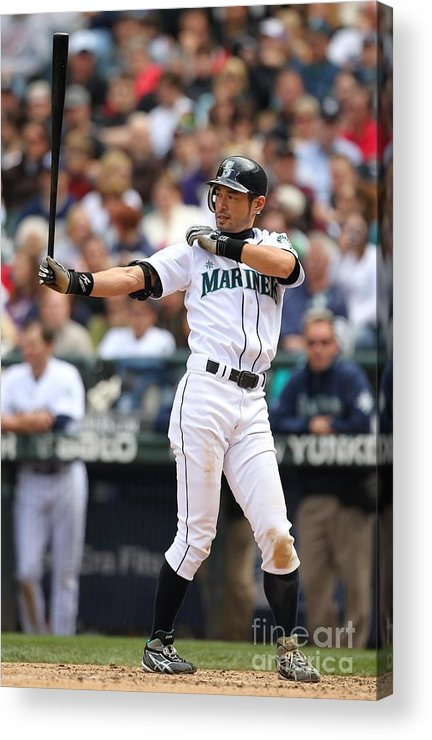 American League Baseball Acrylic Print featuring the photograph Ichiro Suzuki by Otto Greule Jr