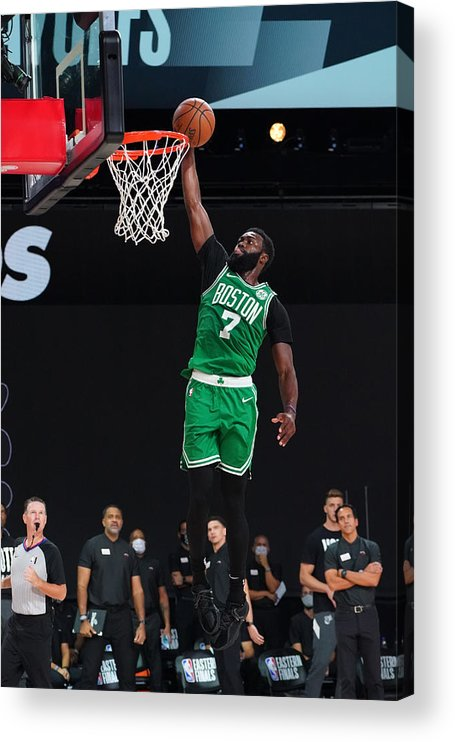 Playoffs Acrylic Print featuring the photograph Jaylen Brown by Jesse D. Garrabrant