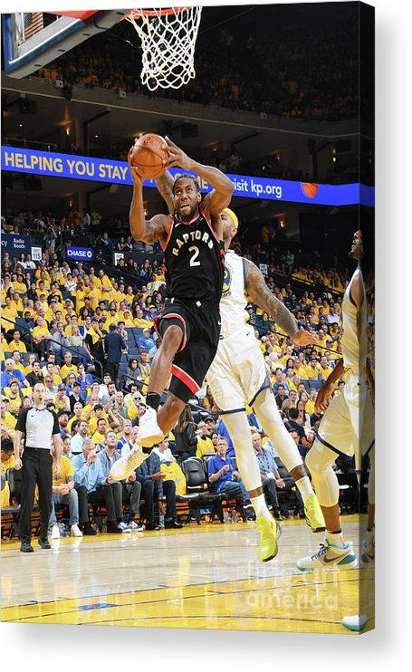 Playoffs Acrylic Print featuring the photograph Kawhi Leonard by Andrew D. Bernstein