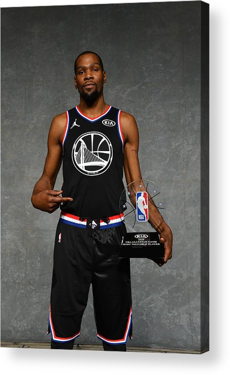 Nba Pro Basketball Acrylic Print featuring the photograph Kevin Durant by Jesse D. Garrabrant