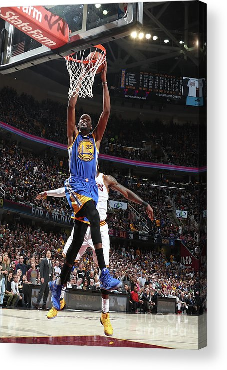 Playoffs Acrylic Print featuring the photograph Kevin Durant by Nathaniel S. Butler