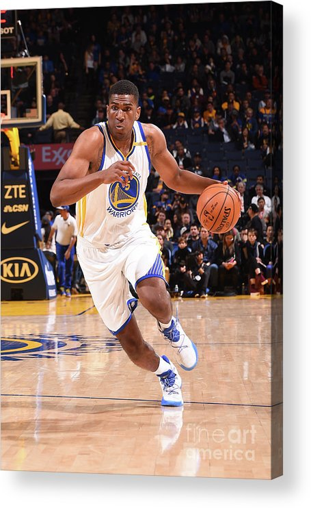 Nba Pro Basketball Acrylic Print featuring the photograph Kevon Looney by Noah Graham