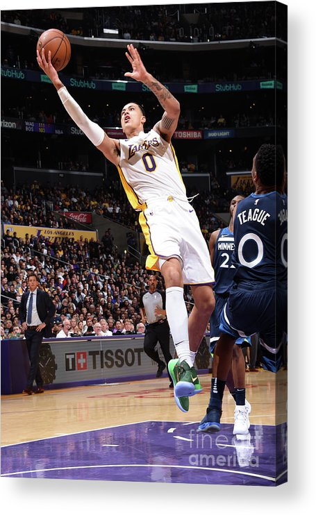 Nba Pro Basketball Acrylic Print featuring the photograph Kyle Kuzma by Andrew D. Bernstein