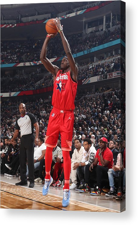 Nba Pro Basketball Acrylic Print featuring the photograph Pascal Siakam by Nathaniel S. Butler