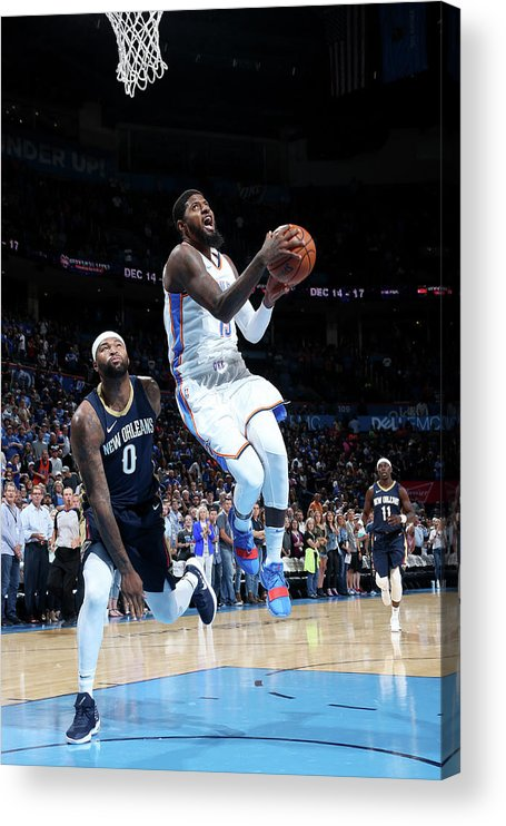 Nba Pro Basketball Acrylic Print featuring the photograph Paul George by Layne Murdoch