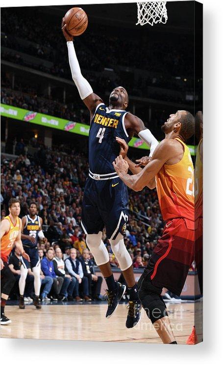 Nba Pro Basketball Acrylic Print featuring the photograph Paul Millsap by Garrett Ellwood