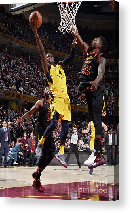 Playoffs Acrylic Print featuring the photograph Victor Oladipo by David Liam Kyle