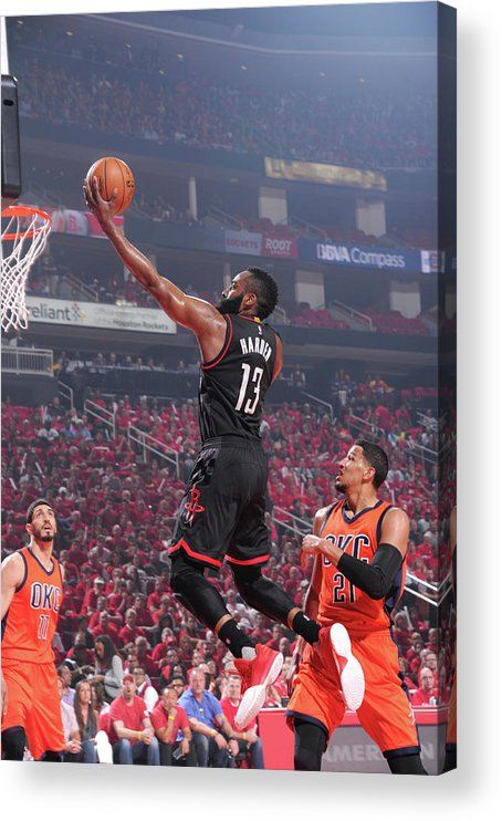 Playoffs Acrylic Print featuring the photograph James Harden by Bill Baptist