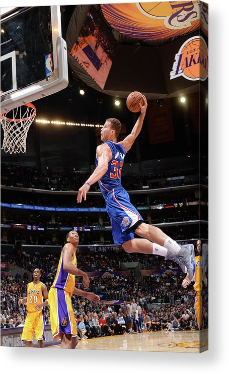 Nba Pro Basketball Acrylic Print featuring the photograph Blake Griffin by Andrew D. Bernstein