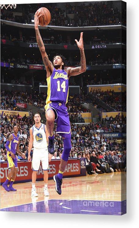 Nba Pro Basketball Acrylic Print featuring the photograph Brandon Ingram by Andrew D. Bernstein