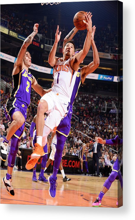 Nba Pro Basketball Acrylic Print featuring the photograph Devin Booker by Barry Gossage