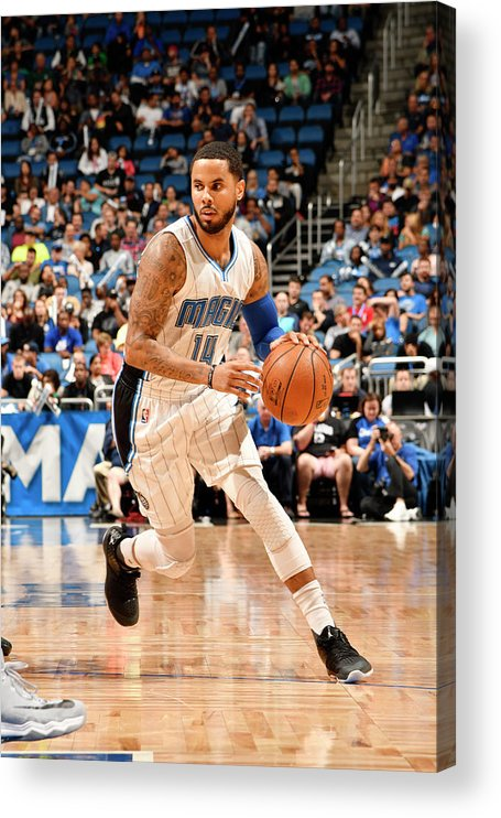 Nba Pro Basketball Acrylic Print featuring the photograph D.j. Augustin by Fernando Medina
