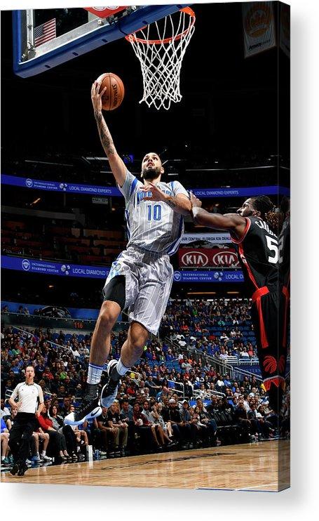 Nba Pro Basketball Acrylic Print featuring the photograph Evan Fournier by Fernando Medina