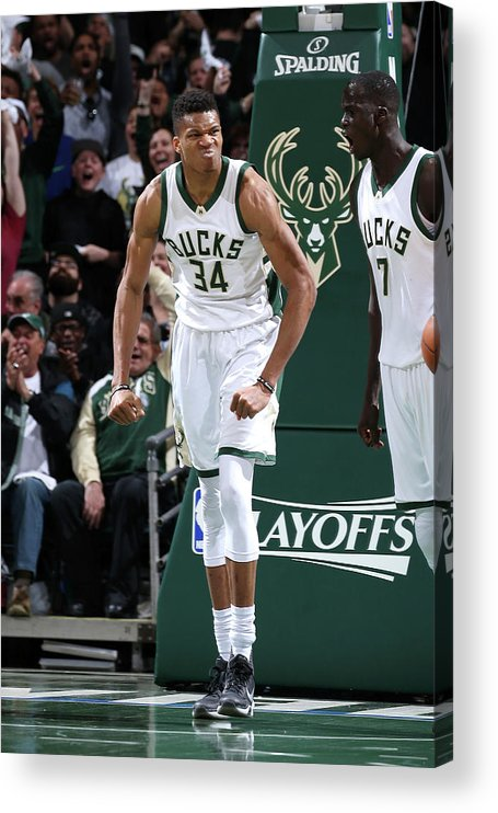 Playoffs Acrylic Print featuring the photograph Giannis Antetokounmpo by Gary Dineen