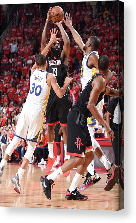 Playoffs Acrylic Print featuring the photograph James Harden by Andrew D. Bernstein