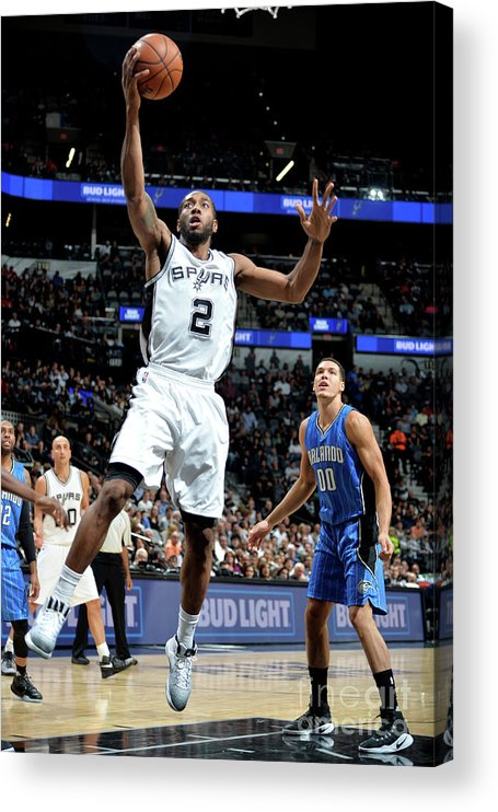 Nba Pro Basketball Acrylic Print featuring the photograph Kawhi Leonard by Mark Sobhani