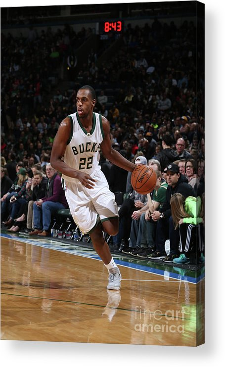 Nba Pro Basketball Acrylic Print featuring the photograph Khris Middleton by Gary Dineen