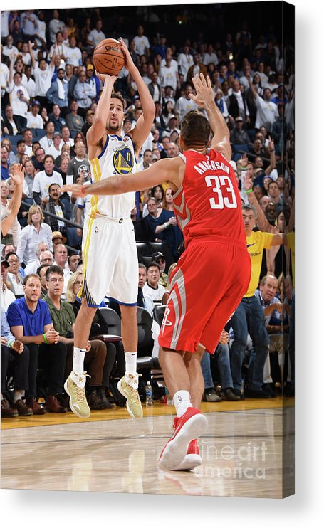 Nba Pro Basketball Acrylic Print featuring the photograph Klay Thompson by Andrew D. Bernstein
