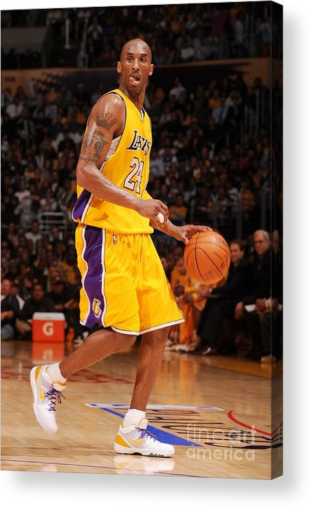 Playoffs Acrylic Print featuring the photograph Kobe Bryant by Noah Graham