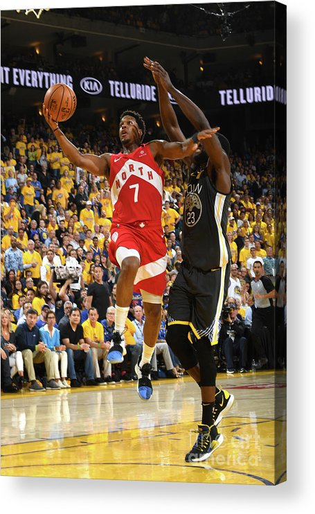 Playoffs Acrylic Print featuring the photograph Kyle Lowry by Andrew D. Bernstein