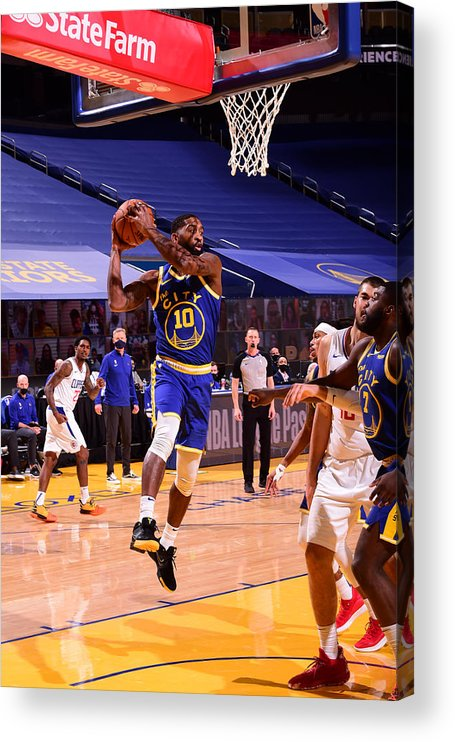 San Francisco Acrylic Print featuring the photograph LA Clippers v Golden State Warriors by Noah Graham