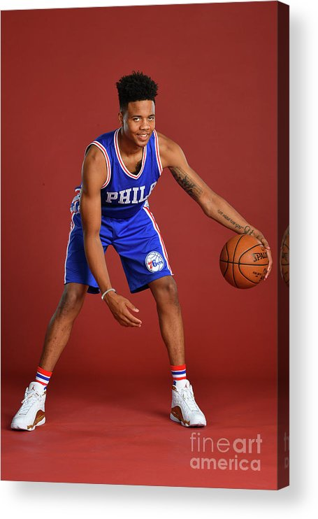 Nba Pro Basketball Acrylic Print featuring the photograph Markelle Fultz by Jesse D. Garrabrant