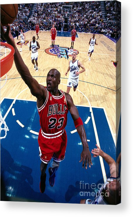 Chicago Bulls Acrylic Print featuring the photograph Michael Jordan by Andrew D. Bernstein