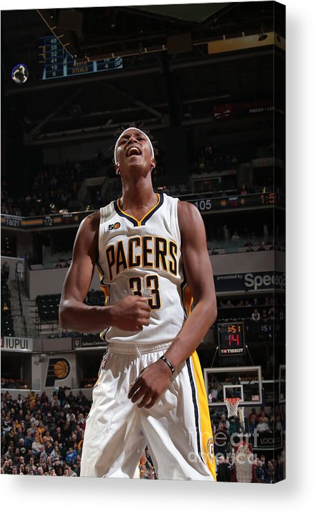 Nba Pro Basketball Acrylic Print featuring the photograph Myles Turner by Ron Hoskins