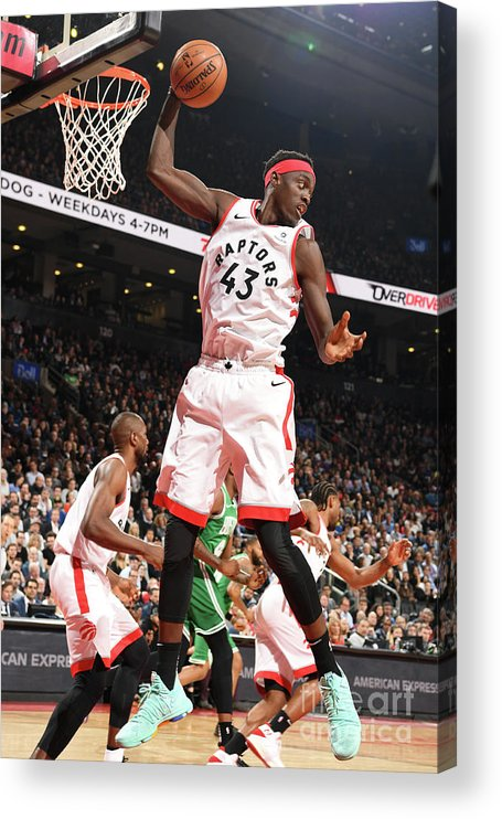 Nba Pro Basketball Acrylic Print featuring the photograph Pascal Siakam by Ron Turenne
