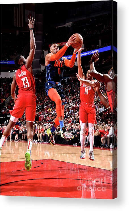 Nba Pro Basketball Acrylic Print featuring the photograph Russell Westbrook by Bill Baptist