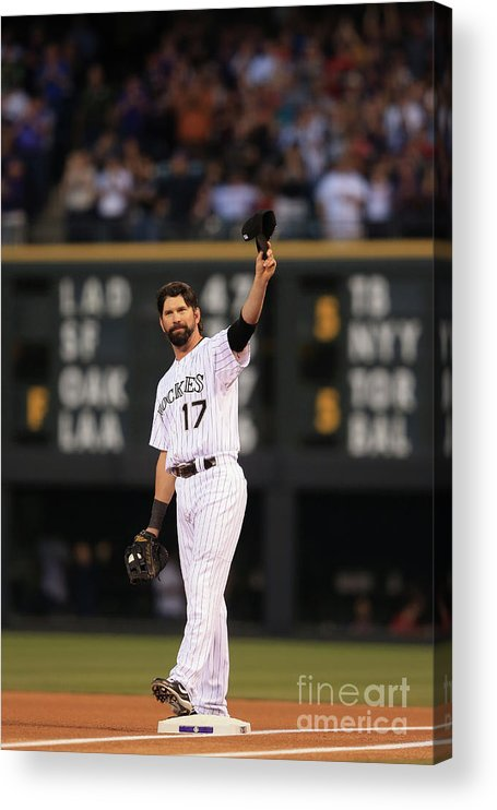 Crowd Acrylic Print featuring the photograph Todd Helton by Doug Pensinger