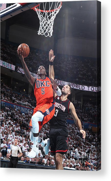 Playoffs Acrylic Print featuring the photograph Victor Oladipo by Nathaniel S. Butler