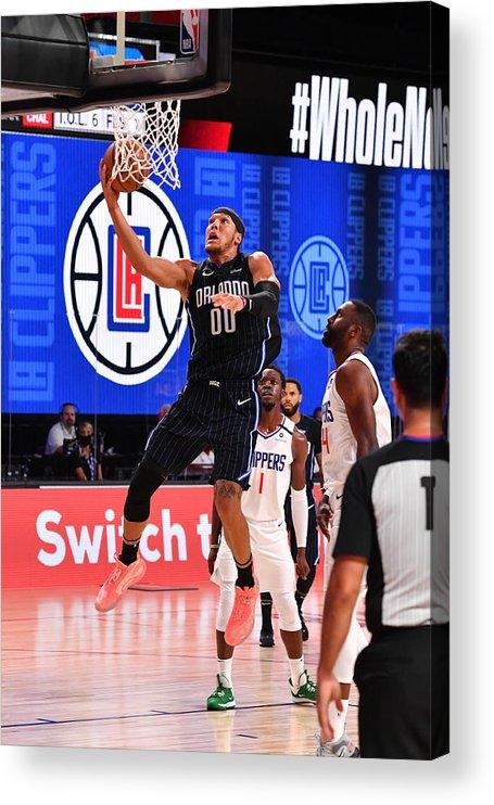 Nba Pro Basketball Acrylic Print featuring the photograph Aaron Gordon by Jesse D. Garrabrant