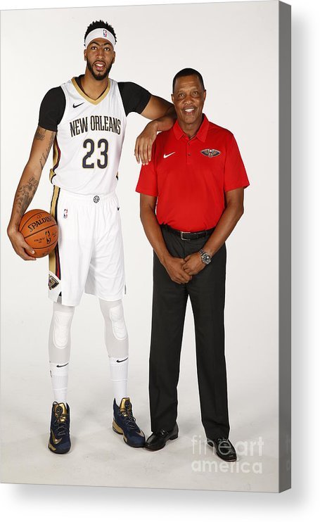 Media Day Acrylic Print featuring the photograph Anthony Davis by Jonathan Bachman