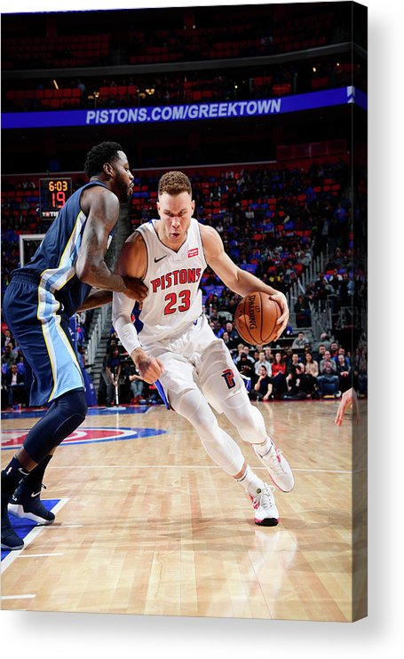 Nba Pro Basketball Acrylic Print featuring the photograph Blake Griffin by Chris Schwegler